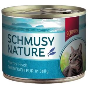 Sparpaket Schmusy Nature Fisch 24 x 185 g - Thunfisch Mix (2 Sorten)