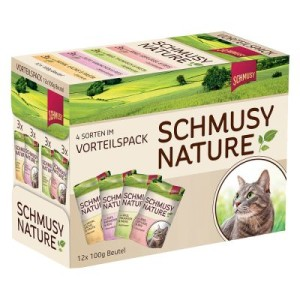 Sparpaket Schmusy Nature Mix 24 x 100 g - Huhn