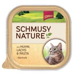Sparpaket Schmusy Nature Schälchen 12 x 100 g - Kitten: Lachs