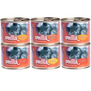 Sparpaket Smilla Geflügel- und Fischtöpfchen 24 x 200g/185g - zartes Geflügel mit Geflügelherzen