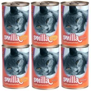 Sparpaket Smilla Geflügel- und Fischtöpfchen 24 x 400 g - Limited Edition: zartes Geflügel mit Kalb