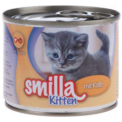 Sparpaket Smilla Kitten 24 x 200 g - mit Kalb