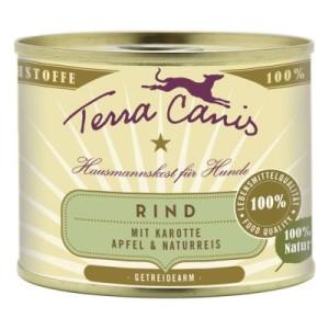 Sparpaket Terra Canis 12 x 200 g - Mix: Rind mit Gemüse + Pute mit Gemüse