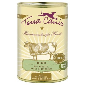 Sparpaket Terra Canis 12 x 400 g - Büffel mit Hirse