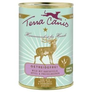 Sparpaket Terra Canis Getreidefrei 12 x 400 g - Wild mit Kartoffeln