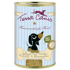 Sparpaket Terra Canis Welpenfutter 12 x 400 g - Mix Rind