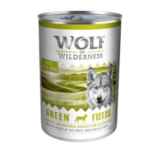 Sparpaket Wolf of Wilderness 12 x 400 g - Green Fields - Lamm