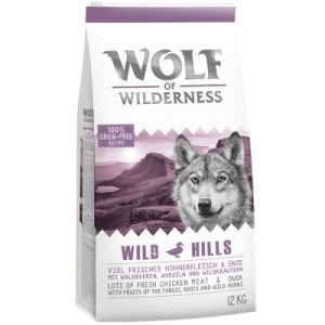 Sparpaket Wolf of Wilderness 2 x 12 kg - gemischtes Paket: Green Fields + Wild Hills