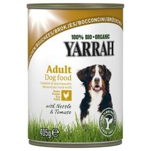 Sparpaket Yarrah Bio 24 x 400 g bzw. 405 g - Huhn & Rind mit Brennnesseln & Tomate (24 x 405 g)