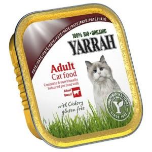 Sparpaket Yarrah Schälchen 12 x 100 g - Bröckchen: Huhn & Rind mit Petersilie & Thymian
