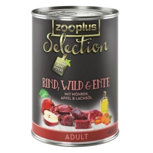 Sparpaket zooplus Selection 12 x 400 g - gemischtes Paket Adult Rind & Wild/Rind & Fasan