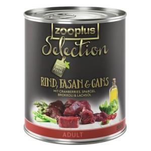 Sparpaket zooplus Selection 12 x 800 g - gemischtes Paket Adult Rind & Wild/Rind & Fasan
