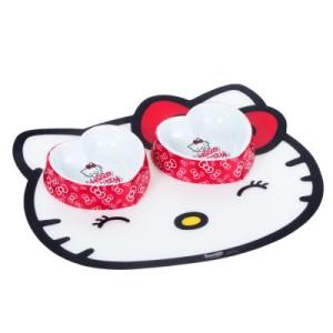 Sparset: Hello Kitty - 2 Näpfe + 1 Napfunterlage