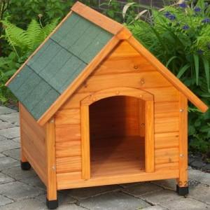 Sparset Hundehütte Spike Komfort mit Isolierung und Tür - Set Größe S: B 72 x T 76 x H 76 cm