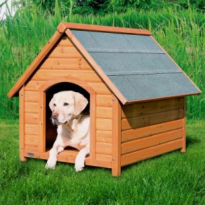 Spitzdach Hundehütte Trixie Natura - Größe XL: B 96 x T 112 x H 105 cm