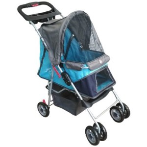 Sporty Pet Stroller für kleine Hunde - blau/grau