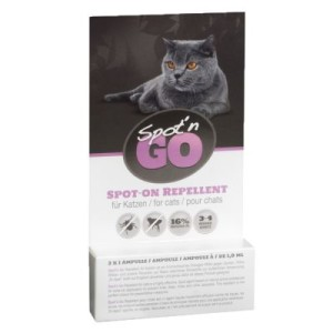 Spot'n Go Zeckenschutzmittel für Katzen - 2 x 1