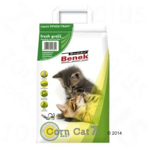 Super Benek Corn Cat Frisches Gras - Sparpaket: 3 x 7 l (ca. 15 kg)