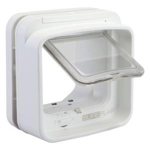 SureFlap DualScan Mikrochip Katzenklappe - Montageadapter für Glasscheiben weiß