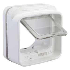 SureFlap DualScan Mikrochip Katzenklappe - Tunnelverlängerung weiß