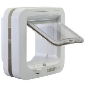 SureFlap Mikrochip Katzenklappe - Montageadapter für Glasscheiben weiß