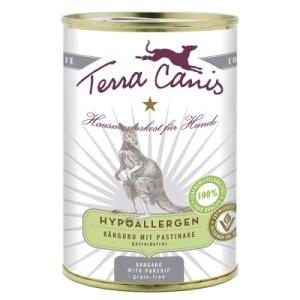 Terra Canis Hypoallergen 6 x 400 g - Känguru mit Pastinake