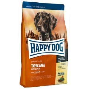 Testpaket Happy Dog Toscana Trocken- & Nassfutter und Snack - 12