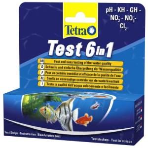 TetraTest 6 in 1 Teststreifen Wassertest - Doppelpack 2 x 25 Teststreifen