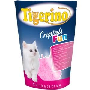 Tigerino Crystals Fun - buntes Katzenstreu - pink 3 x 5 l