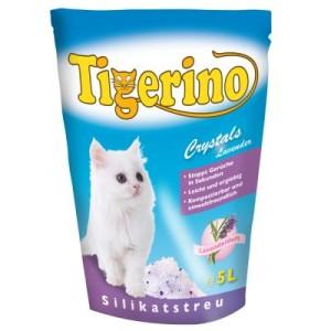 Tigerino Crystals Lavendel Katzenstreu - 5 x 5 l - Sparangebot!