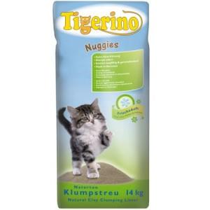 Tigerino Nuggies Katzenstreu - Frischeduft - Doppelpack 2 x 14 kg