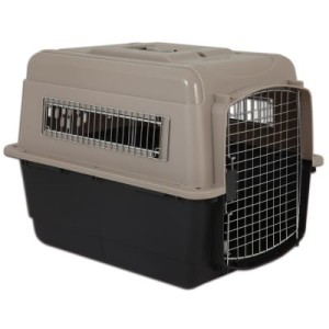 Transportbox Vari Kennel Ultra Fashion taupe/black - L 91 x B 64 x H 69 cm taupe/black