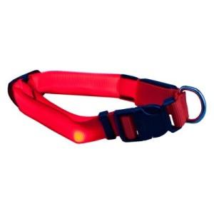 Trixie Flash Leuchthalsband - Größe M-L: 40 - 55 cm Halsumfang
