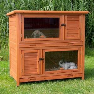 Trixie Kaninchenstall Natura 2 in 1 mit Wärmedämmung - L 116 x T 65 x H 113 cm (2 Pakete*)