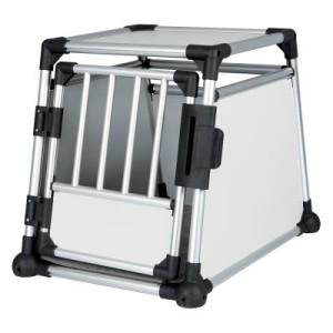 Trixie Transportbox Aluminium - Größe M: B 63 x T 90 x H 65 cm