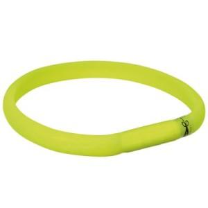 Trixie USB Leuchthalsband grün - XS-S: 35 cm/18 mm