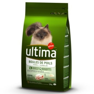 Ultima Cat Hairball - Truthahn & Reis - Sparpaket: 3 x 1