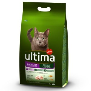 Ultima Cat Sterilized Huhn & Gerste - Sparpaket: 2 x 3 kg