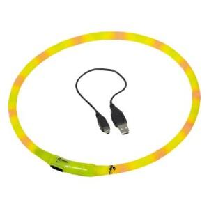 VISIBLE USB-Lichtschlauch Halsband - bis 70 cm Halsumfang