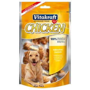 Vitakraft CHICKEN Hühnchenhanteln - Sparpaket: 3 x 80 g