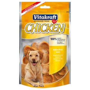 Vitakraft CHICKEN Hühnchentaler - Sparpaket: 6 x 80 g