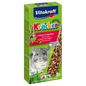 Vitakraft Chinchilla-Kräcker - 2 x 2 Stück Kräuter & Hagebutte