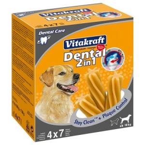 Vitakraft Dental 2in1 medium Multipack - 3 x (4 x 180 g)