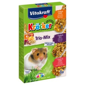 Vitakraft Hamster-Kräcker Trio-Mix - 3 x 3er Kombi (Honig