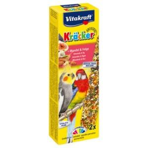 Vitakraft Kräcker Großsittich - 2 Sticks Mandel & Feige (180 g)