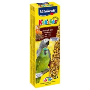 Vitakraft Kräcker Papagei - 2 x 2 Sticks Honig & Anis