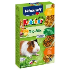 Vitakraft Meerschweinchen-Kräcker Trio-Mix - 1 x 3er Kombi (Honig