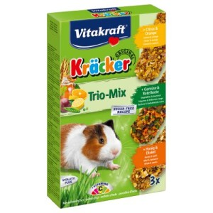 Vitakraft Meerschweinchen-Kräcker Trio-Mix - 3 x 3er Kombi (Citrus