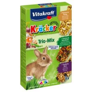 Vitakraft Zwergkaninchen-Kräcker Trio-Mix - 1 x 3er Kombi (Popcorn