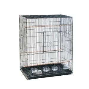 Vogelkäfig Finca Melodia - schwarz: L 76 x B 45 x H 90 cm